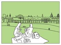 sketches of London 'Greenwich Park'