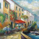 """Street in Italy bt the Sea"" by Unique_designs"