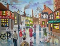 Real Ales Pub oil painting