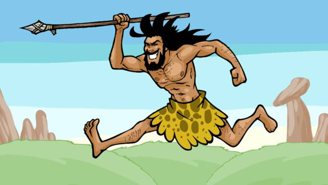 Caveman Spear : Hunting with spear by cavemen times