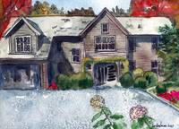 Painting from Photo, House Portrait- Cabin in the
