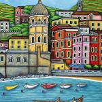 """Colours of Vernazza, Cinque Terre"" by LisaLorenz"