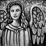 """The Guardian Angel - In Black and White"" by ElizaArt"