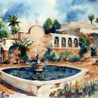"""Mission San Juan Capistrano"" by WillyDaleArt"