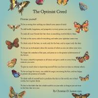 """The Optimist Creed"" by Happinessinyourlife"