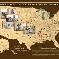 New Deal Communities Map Art Prints & Posters by Vicki S. Vaden