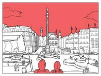 Sketches of London 'Trafalgar Square'