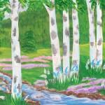 """7 Birch trees"" by elajanus"