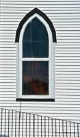 Church Window with Black Rail