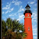 """""""Lighthouse and Palms"""" by ChrisCrowley"""