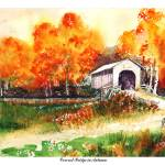 """Covered Bridge in Autumn"" by ronstetzer"