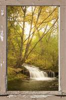 Peeling Window Waterfall Nature View