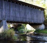 Quaint country covered bridge