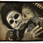 """Dia de los Muertos Mother and Child"" by kenlee"