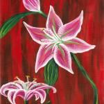 """Stargazer Lillies"" by PinkiDee"