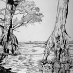 """Marsh Trees"" by Aaron_Guthrie"