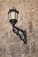 Wall mounted street lamp.