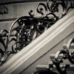 """Ironwork on Brownstone steps in The South End, Bos"" by BonVivantPhotography"