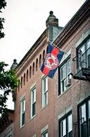 Boston Red Sox Flag hanging in The North End, Bost