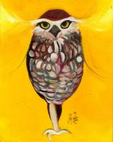 Golden Warrior - Brown and White Owl
