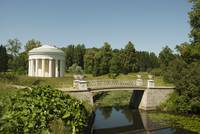 Friendship temple and Iron Bridge. Pavlovsk museum