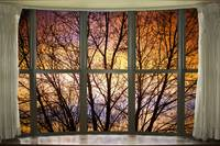 Sunset Into the Night Bay Window View