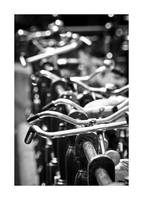 Handlebars and Bicycles Black and White