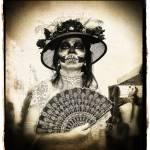 """Fan Woman - Dia de los Muertos"" by kenlee"
