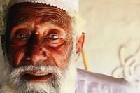 Old Man in Village Destroyed by Floods in Pakistan