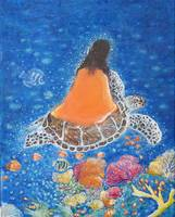 Painting of Paramhansa Yogananda - Make Me the Sea