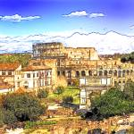 """Colosseum and roman forum"" by MacXever"