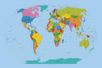 World Map Bright