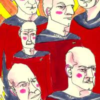 Jean-Luc Picard! Art Prints & Posters by L Nichols