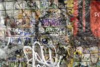 A wall with graffiti