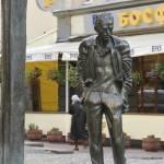 """A bronze statue of Bulat Okudzhava"" by igorsin"