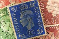 King George vintage stamps.