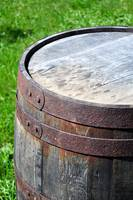 Old rusty barrel.