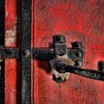 """Red Door with Latch"" by johncorney"