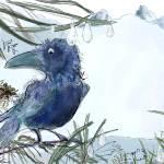 """Crow in winter scene"" by moiramunro"