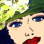 """Lady with green hat I"" by MiraDimi"