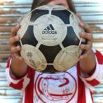 """soccer girl n adidas ball"" by quitaspics"