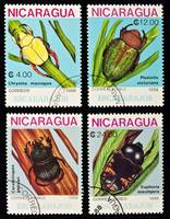 Beetles stamps collection.