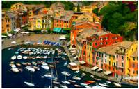 Harbor Overview of Portofino, Italy
