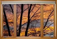 Sunset Window View