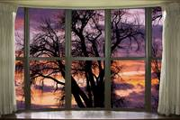 Beautiful Sunset Bay Window View