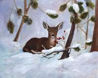 Holly Berry Deer