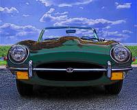 Jaguar XKE - Full Front - Green