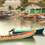 """Fishing Boats, Castries Waterfront, St. Lucia"" by RoupenBaker"
