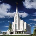 """Rexburg Idaho Temple"" by woolleybear"