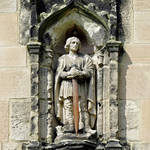 """Figure of St Wystan above Porch Door (28112-RDA)"" by rodjohnson"